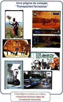 Coleção por Assunto - esta página é como um índice, mostrando diversos tipos de transportes terrestres